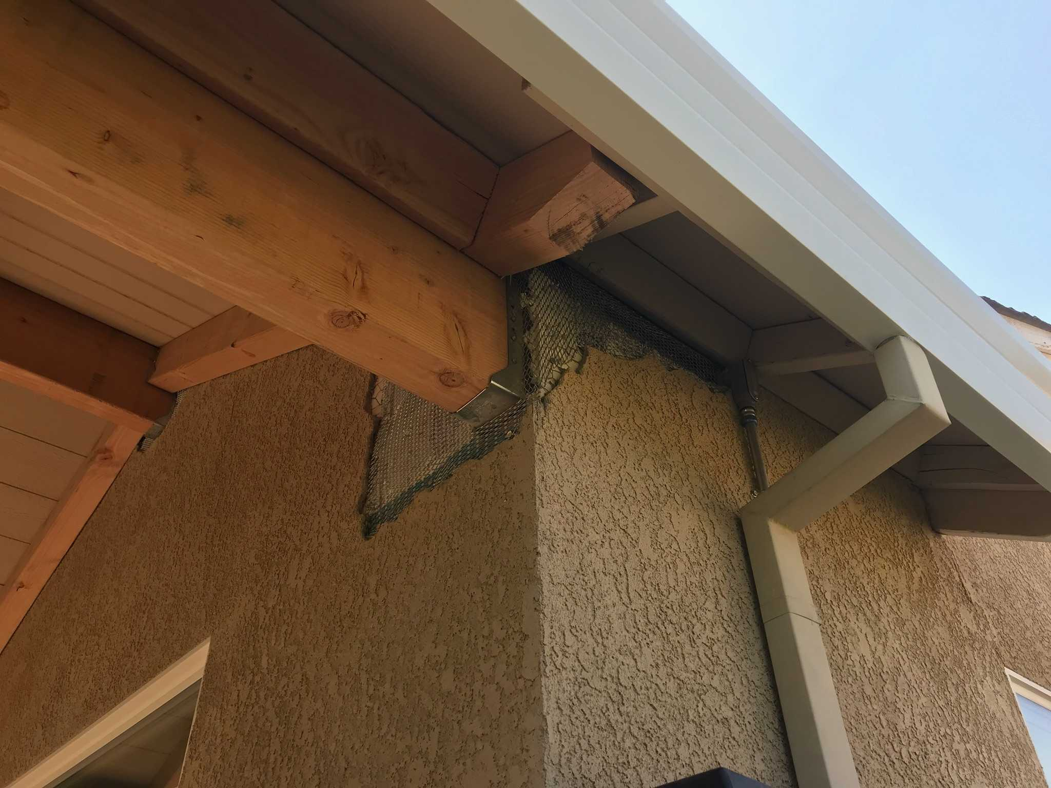 Soffit Stucco Patching